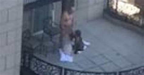 Scandalous footage shows two women performing sex act on man on posh hotel balcony - Mirror Online