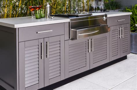Outdoor Kitchen Cupboards by Outdoor Kitchen Cabinets Brown Cabinetry