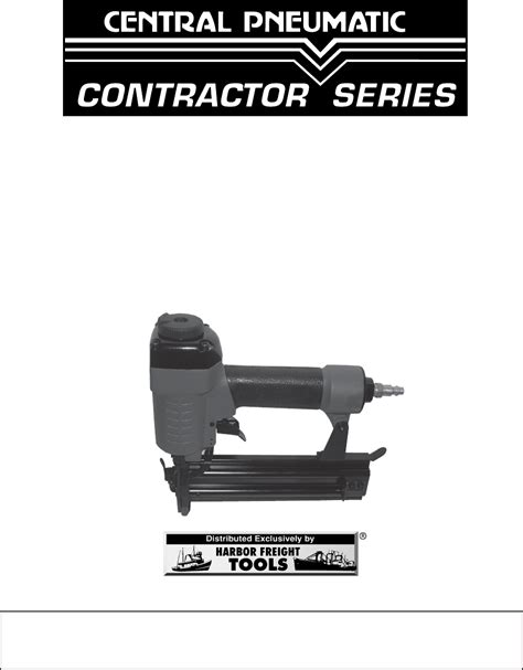 Central Pneumatic Floor Nailer Troubleshooting by Harbor Freight Tools Nail Gun 46309 User Guide
