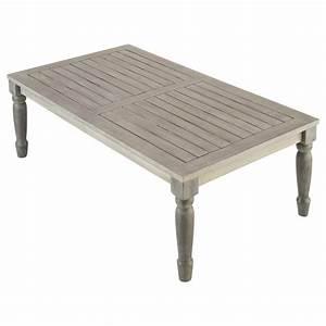 Table Jardin Acacia : table basse de jardin en acacia gris e l 110 cm chypre maisons du monde ~ Teatrodelosmanantiales.com Idées de Décoration