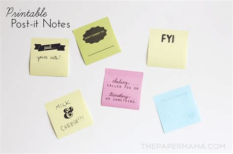 print on post it notes template printable post it notes free layout to print and make your own