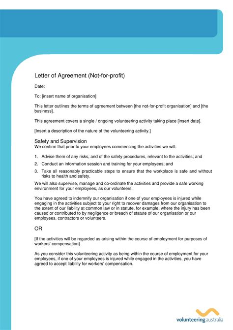 business agreement letter examples   examples