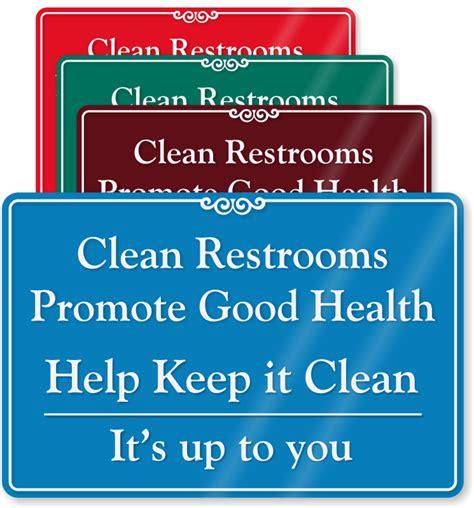 printable clean bathroom signs keep bathroom clean signs
