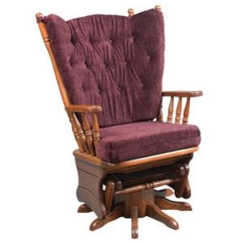 amish heritage high back four post glider rocking chair