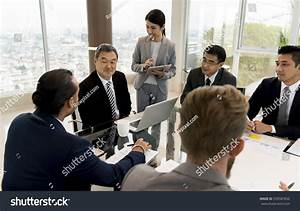 Business Discussion Meeting Presentation Briefing Stock