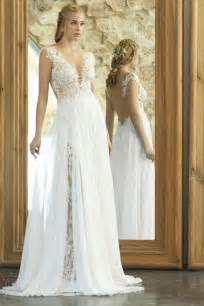 wedding dresses 2015 summer new arrival summer wedding dresses 2015 with chiffon lace v neck side split
