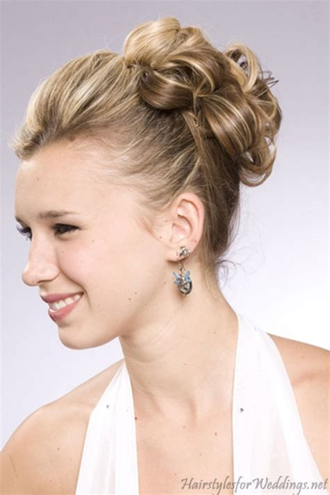 latest wedding updo hairstyles  shoulder length hair