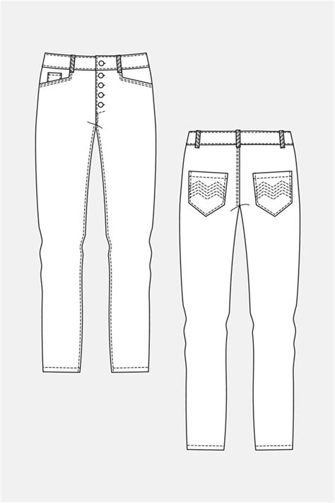 Named Clothing 05-046 WYOME BOYFRIEND JEANS Downloadable Pattern