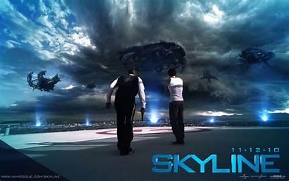 Sci Fi Skyline Definition Film Papel Parede