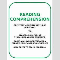Reading Comprehension  Readersnonreaders  Verbalnonverbal Student
