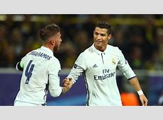 Real Madrid's Sergio Ramos denies letting Cristiano
