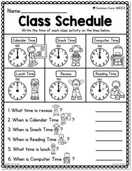differentiated first grade telling time worksheets by bite size teaching