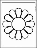 Daisy Coloring Pages Simple Colorwithfuzzy sketch template