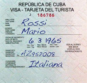 Visto Ingresso Cuba Visto Cuba Offerta Visto E Polizza Per Chi Si Reca A Cuba