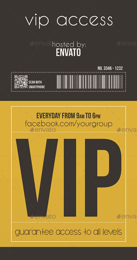 multipurpose vip pass  tzochko graphicriver