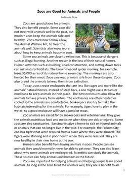 opinion writing reading digital  animals