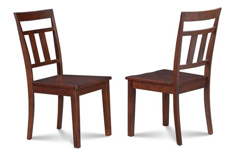 dining end chairs 4 kitchen dining side chairs w wooden seat in mahogany 3328