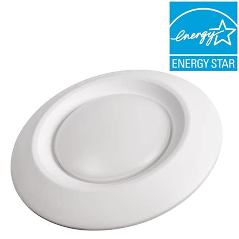 can light trim led commercial electric 6 in soft white recessed led can disk