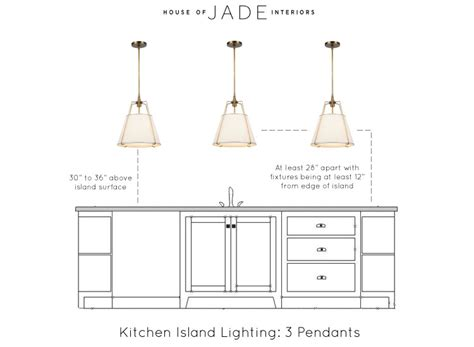selecting the right lighting for your kitchen island