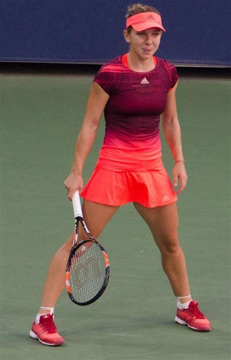 Simona Halep with a sublime drop shot against Agnieszka Radwanska   Daily Mail Online