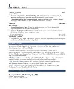 marketer free resume sles blue sky resumes