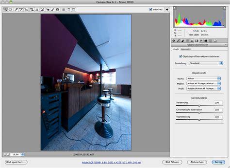 camera raw  veroeffentlicht mit objektivkorrektur
