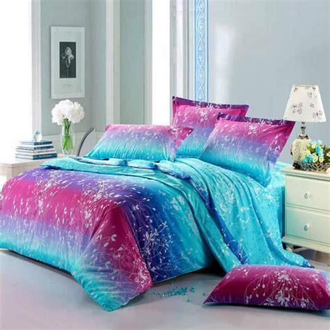 neon teen girls bedding forest scene full size bright