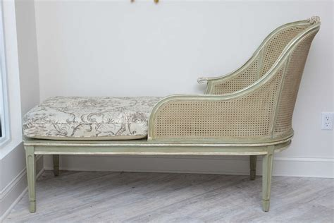 chaise louis 16 louis xvi style caned chaise lounge at 1stdibs