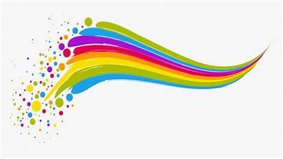 Rainbow Line Clipart Clip Colorful Euclidean Transparent
