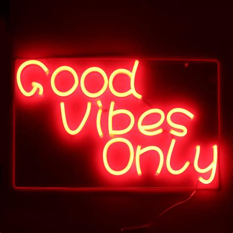 Vibes Neon Wallpaper by Vibes Only Neon Sign Handmade Visual Artwork Wall