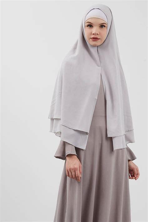 sell ina khimar grey hijab essential hijabenkacom