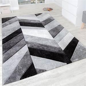Türkische Teppiche Modern : designer teppich modern mit konturenschnitt stylish grau schwarz creme meliert wohn und ~ Markanthonyermac.com Haus und Dekorationen