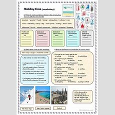 Holiday Time (vocabulary) Worksheet  Free Esl Printable Worksheets Made By Teachers