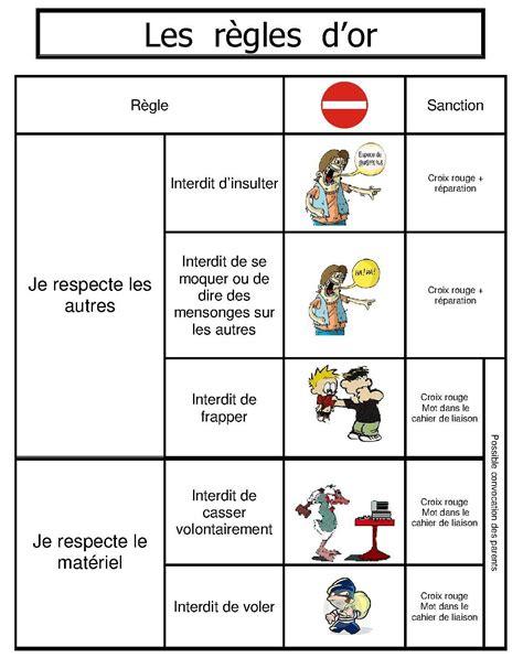 Tableau Regle De Vie by Les R 232 Gles D Or Ecole R 232 Gles De Vie Regle De Vie