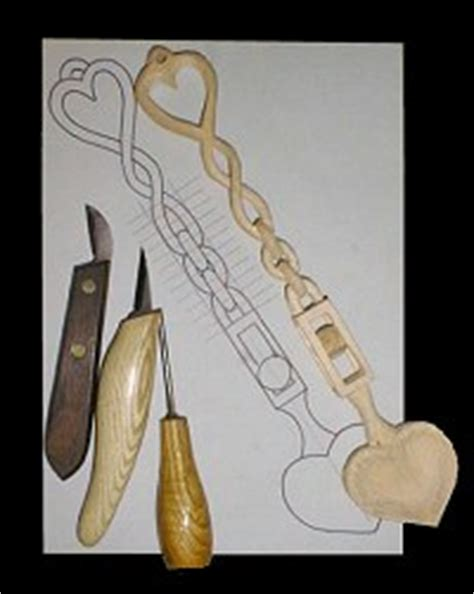 wood carving beginners project  welsh love spoon