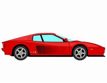 Ferrari Clipart Testarossa Svg Clip Side Drawing