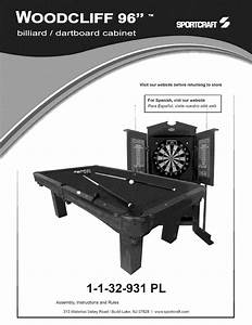 Sportcraft 1 32 931pl User Manual Pool Table Manuals And