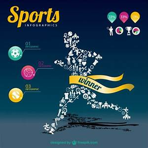 sports day poster template - sports infographic champion template vector free download