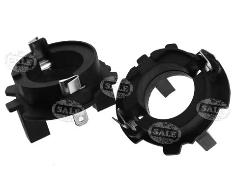 2 x h7 xenon hid bulbs adapters holders for volkswagen mk5