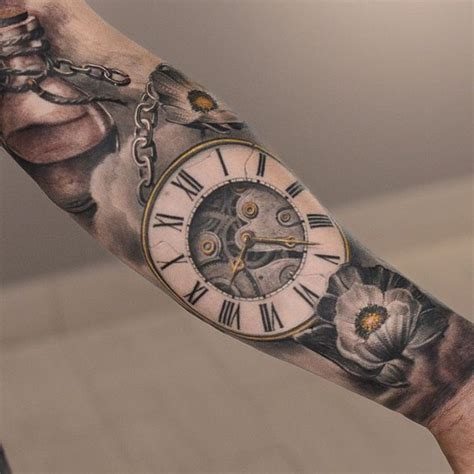 The 17 Best Time Piece Tattoos Stecile Images On Pinterest