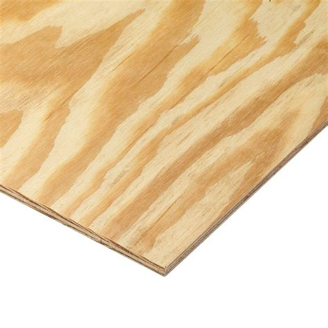 how thick is plywood 1 4 in x 4 ft x 8 ft bc sanded pine plywood 166014 the home depot