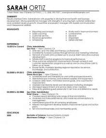 resume sles in healthcare healthcare management resume exles resume format 2017