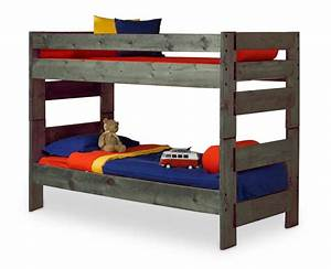 Wrangler Twin Over Twin Bunk Bed - Driftwood Finish HOM