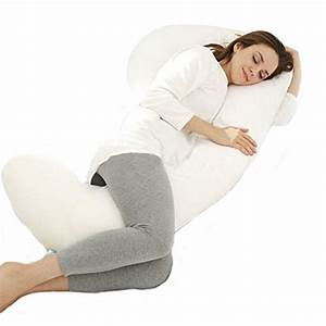 Angel unique c shape body pregnancy pillow with jersey for Body pillow to help back pain