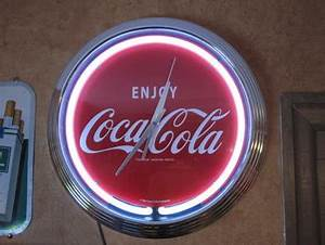 New 2009 Coca Cola Neon Sign & Clock