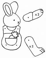 Puppet Coloring Bunny Preschool Crafts Kindergarten Comment sketch template