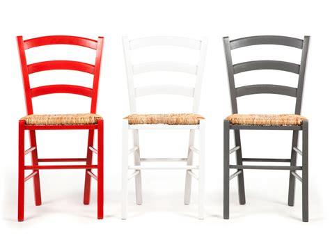 chaise en bois et paille chaise en bois avec assise en paille lot de 2 palma blanc