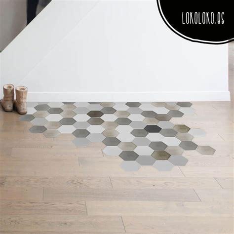 Vinyl to decorate floors with hexagons Lokoloko