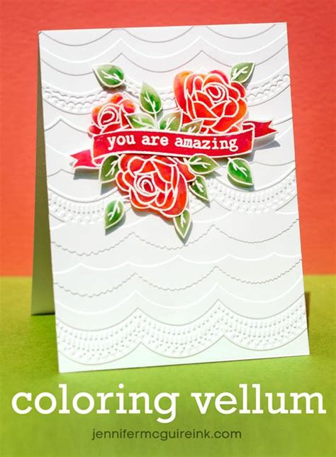 images  vellum cards tutorials