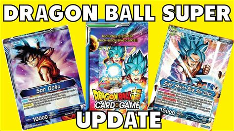 dragon ball super card game info update youtube